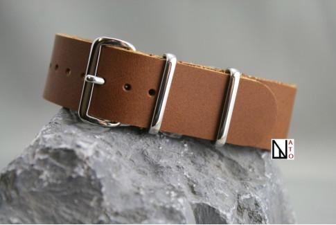 Bracelet cuir NATO Caramel