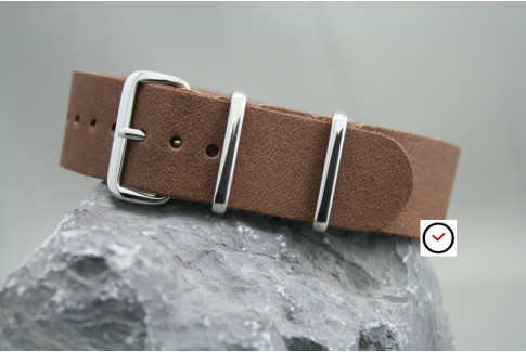 Bracelet cuir NATO Old School