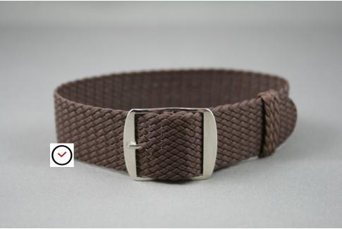 Bracelet montre Perlon tressé Marron