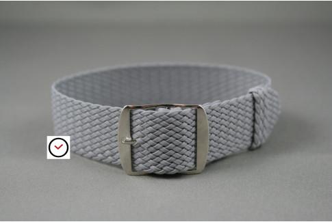 Bracelet montre Perlon tressé Gris clair