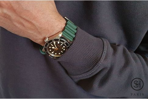 Green Diver SELECT-HEURE FKM rubber watch strap, quick release spring bars (interchangeable)