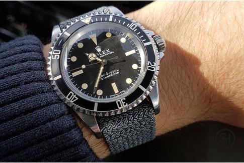 Bracelet montre Perlon tressé Gris Select'Heure