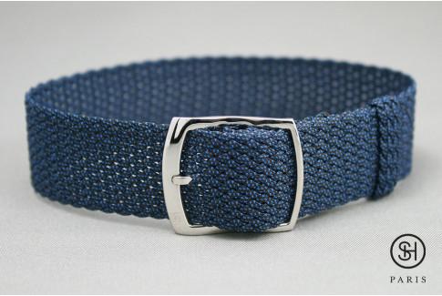Bracelet montre Perlon tressé Bleu Select'Heure