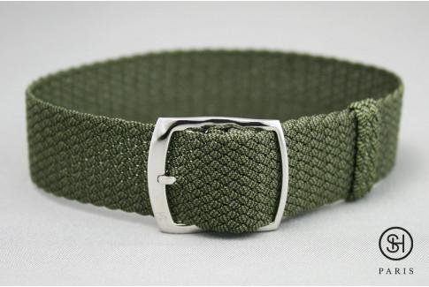 Bracelet montre Perlon tressé Kaki Select'Heure