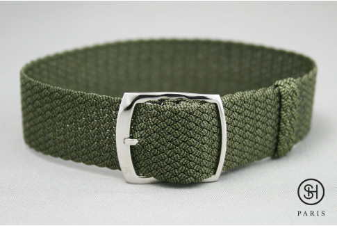 Select'Heure Kaki Green braided Perlon watch strap