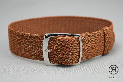 Select'Heure Orange braided Perlon watch strap