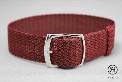 Bracelet montre Perlon tressé Bordeaux Select'Heure