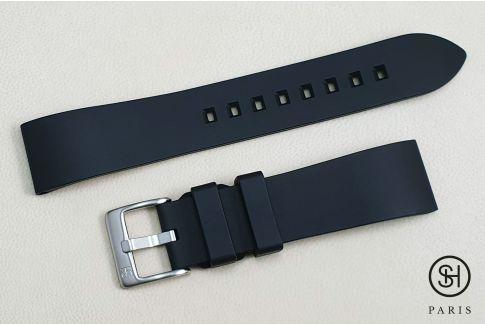 Bracelet montre caoutchouc FKM SELECT-HEURE Essentiel Noir, montage pompes rapides (interchangeable)