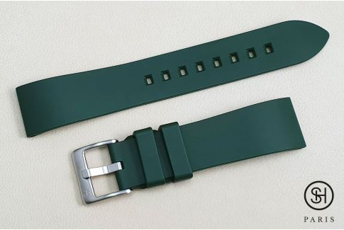 Green Essential SELECT-HEURE FKM rubber watch strap, quick release spring bars (interchangeable)