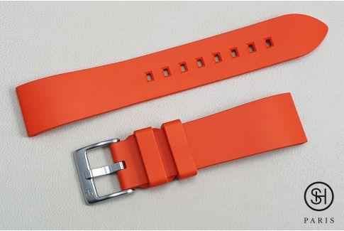 Bracelet montre caoutchouc FKM SELECT-HEURE Essentiel Orange , montage pompes rapides (interchangeable)