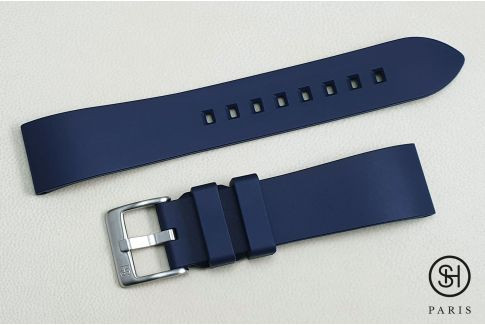 Navy Blue Essential SELECT-HEURE FKM rubber watch strap, quick release spring bars (interchangeable)