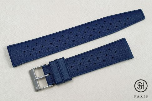 Night Blue Tropic SELECT-HEURE FKM rubber watch strap, quick release spring bars (interchangeable)