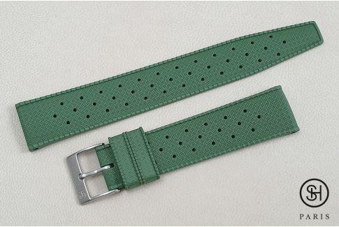 Bracelet montre caoutchouc FKM SELECT-HEURE Tropic Vert Militaire, montage pompes rapides (interchangeable)