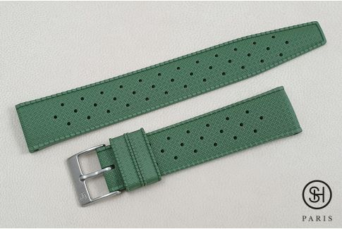 Military Green Tropic SELECT-HEURE FKM rubber watch strap, quick release spring bars (interchangeable)