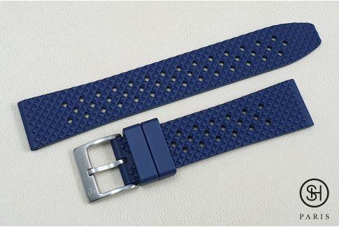 Bracelet montre caoutchouc FKM SELECT-HEURE Rallye Bleu Marine, montage pompes rapides (interchangeable)