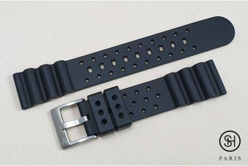 Bracelet montre caoutchouc FKM SELECT-HEURE Plongeur Noir, montage pompes rapides (interchangeable)