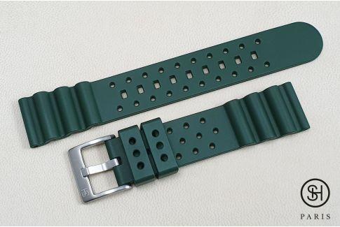 Bracelet montre caoutchouc FKM SELECT-HEURE Plongeur Vert, montage pompes rapides (interchangeable)