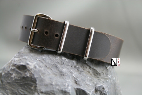 Dark Motown leather G10 NATO strap