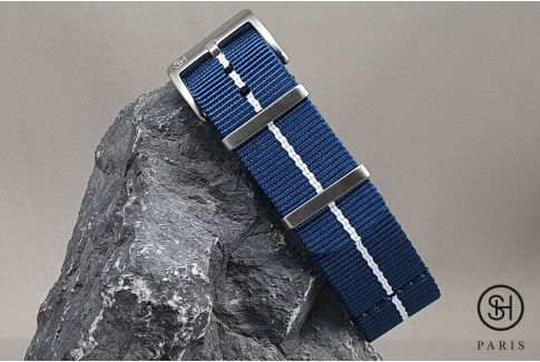 Blue White SELECT-HEURE Marine Nationale nylon watch straps