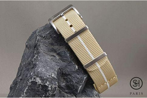 Bracelet montre nylon Marine Nationale SELECT-HEURE Sable Blanc