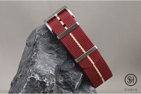 Burgundy Sand SELECT-HEURE Marine Nationale nylon watch straps
