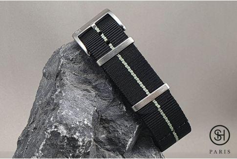 Black Grey SELECT-HEURE Marine Nationale nylon watch straps