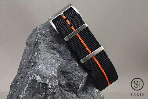Black Orange SELECT-HEURE Marine Nationale nylon watch straps