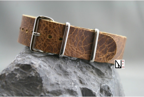 Spider leather G10 NATO strap