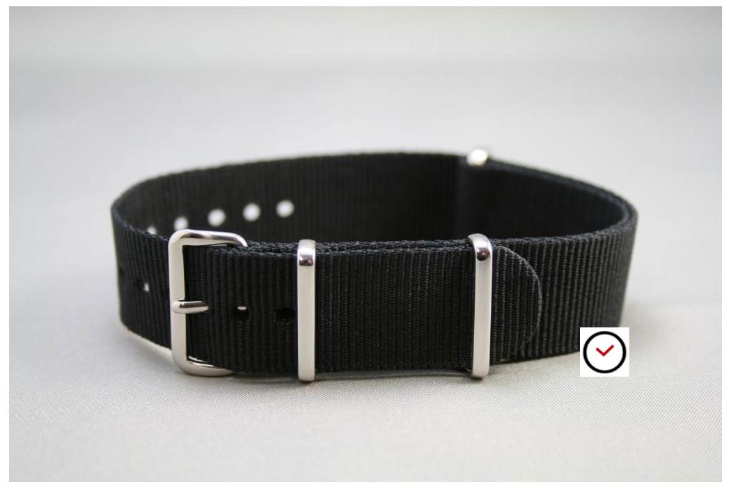 Bracelet nylon NATO Noir