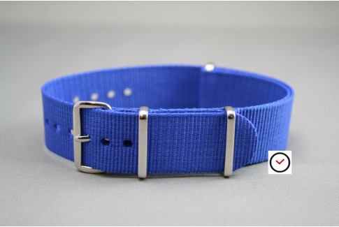 Electric Blue G10 NATO strap (nylon)
