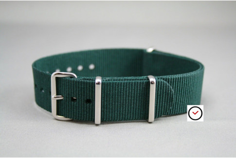 Emerald green G10 NATO strap (nylon)