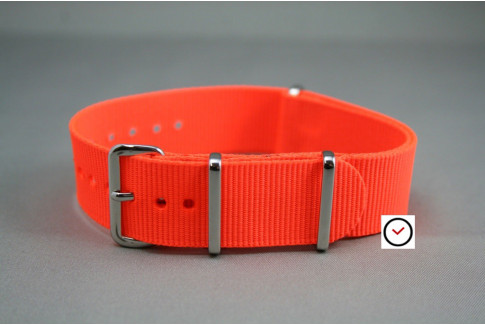 Fluo Orange G10 NATO strap (nylon)