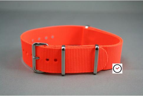 Fluo Orange G10 NATO strap (nylon)