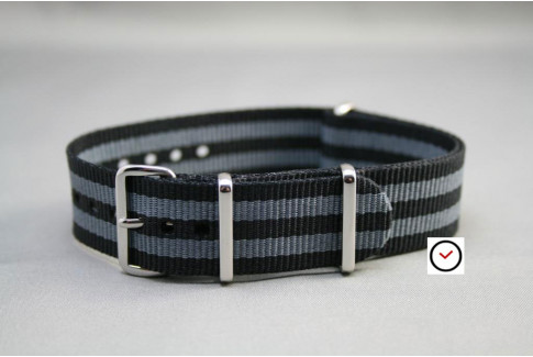 Craig Bond  G10 NATO strap (Black Grey)