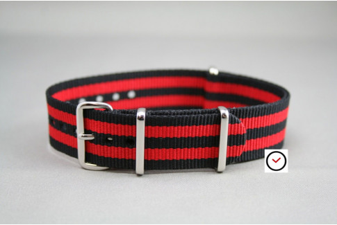 Black Red James Bond G10 NATO strap (nylon)