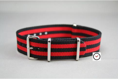 Black Red James Bond G10 NATO strap (nylon)