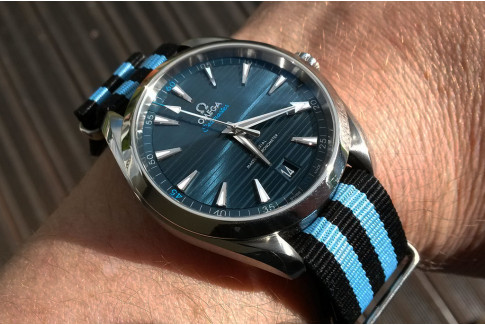 Black Blue James Bond G10 NATO strap (nylon)