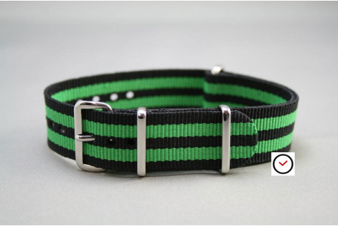 Black Green James Bond G10 NATO strap (nylon)