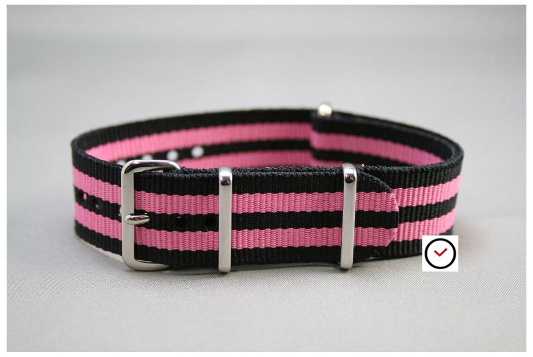 Black Pink James Bond G10 NATO strap (nylon)