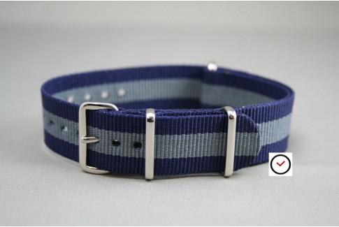 Navy Blue Grey G10 NATO strap (nylon)