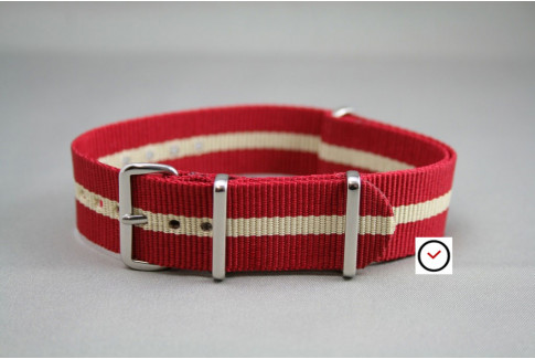Red Sandy Beige G10 NATO strap (nylon)