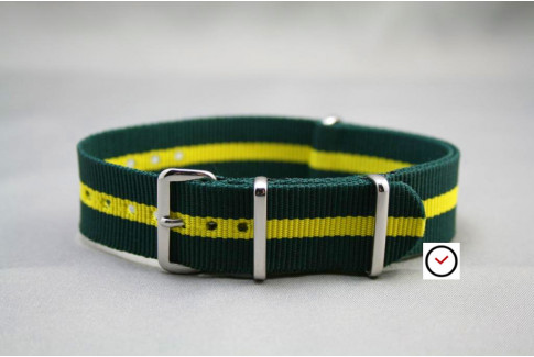Green Yellow G10 NATO strap (nylon)