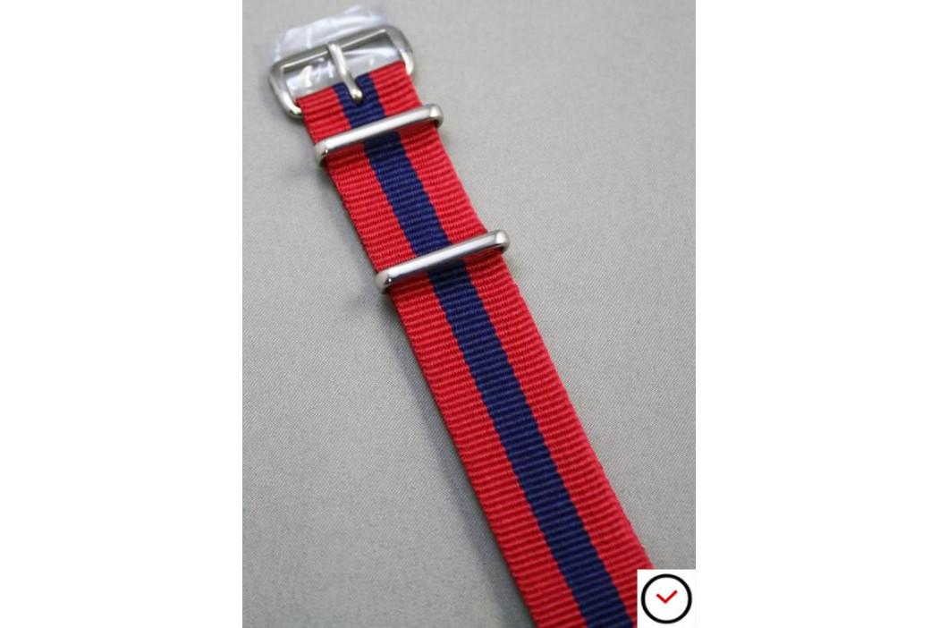 Bracelet nylon NATO Rouge Bleu Navy