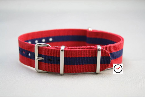 Red Navy Blue G10 NATO strap (nylon)