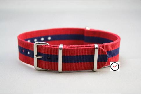 Red Navy Blue G10 NATO strap (nylon)