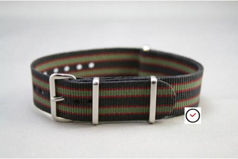 Original Bond G10 NATO strap (Black, Green, Red)
