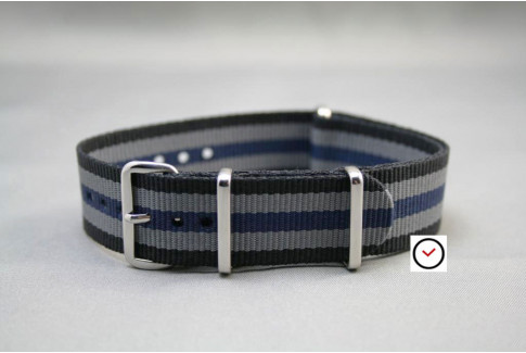 Black Grey Blue James Bond G10 NATO strap (nylon)