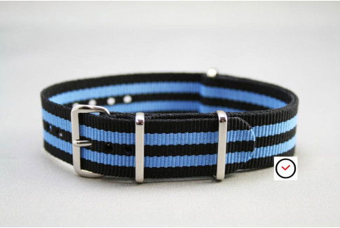 Black Blue James Bond G10 NATO strap (nylon)