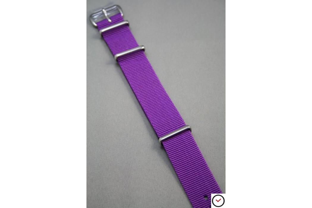 Bracelet nylon NATO Violet