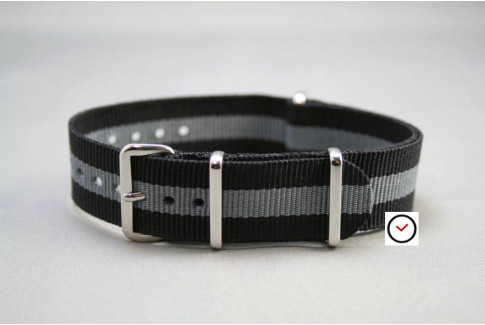 Black Grey G10 NATO strap (nylon)